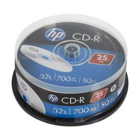 CD-R lemez, 700MB, 52x, hengeren, HP [25 db]