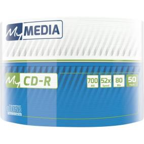 CD-R lemez, 700MB, 52x, zsugor csomagolás, MYMEDIA [50 db]