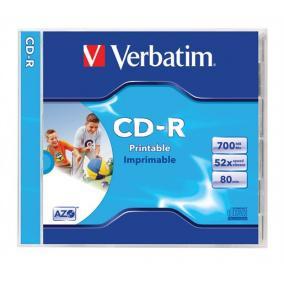 CD-R 700 MB, 80min, 52x, normál tokban (Verbatim)