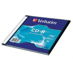CD-R 700 MB, 80min, 52x, vékony tokban (Verbatim)