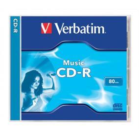 CD-R lemez, 700MB, 80min, 16x, normál tok, VERBATIM