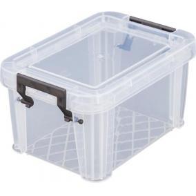 Műanyag tárolódoboz, átlátszó, 0,5 liter, ALLSTORE