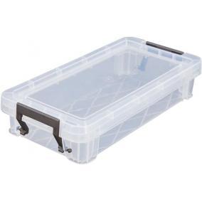 Műanyag tárolódoboz, átlátszó, 0,75 liter, ALLSTORE