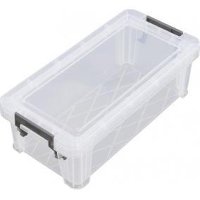 Műanyag tárolódoboz, átlátszó, 1,3 liter, ALLSTORE