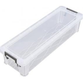 Műanyag tárolódoboz, átlátszó, 2,2 liter, ALLSTORE