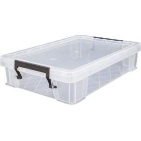 Műanyag tárolódoboz, átlátszó, 5,5 liter, ALLSTORE