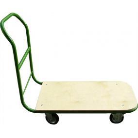Szállítókocsi, kézi, 200 kg teherbírás, zöld-barna