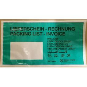Okmánykísérő tasak, LA4, öntapadó, papír, 240x110 mm, 1000 db/csomag [1000 db]