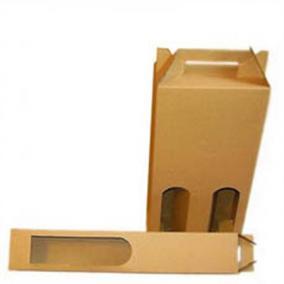 Bortartó papírdoboz, 2-es, sima, natúr