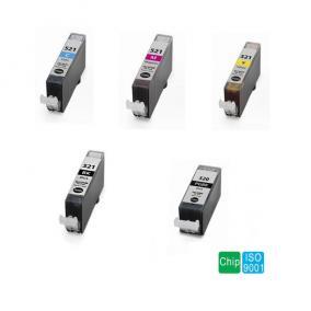 Canon CLI-521 Bk-C-M-Y + PGI-520 [1-1db] !!CHIPPEL!! kompatibilis tintapatron (ForUse)