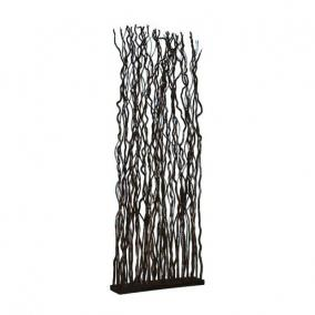 Csavarfűz térelválasztó 190x68x15cm fekete