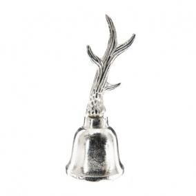 Csengő agancsos nickel/aluminium 7,62 x 7,62 x 20,32 cm ezüst
