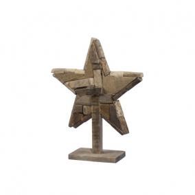 Csillag álló fa 33,5 cm x 11,5 cm x 43 cm natúr