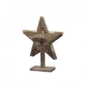 Csillag álló fa 43 cm x 13 cm x 54 cm natúr