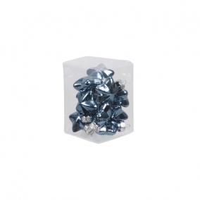 Csillag üveg 4cm kék fényes-matt [12 db]