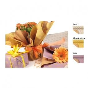 Csomagoló papír virággal 0,7x50m lila