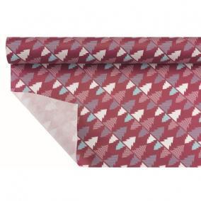 Csomagoló papír vízálló fenyőfával 1m x 25m bordó