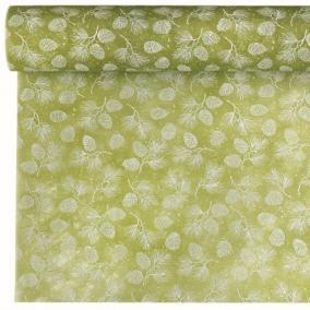 Csomagoló toboz mintás vetex 0,5m x 9m zöld, fehér