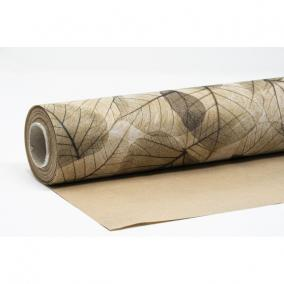 Csomagolópapír vízálló levél mintás papír 750mm x 25m natúr