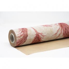 Csomagolópapír vízálló pampa mintás papír 750mm x 25m bézs, bordó