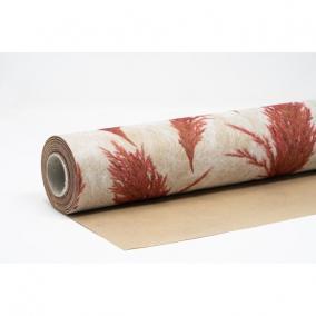 Csomagolópapír vízálló pampa mintás papír 750mm x 25m bézs, piros
