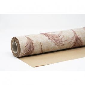 Csomagolópapír vízálló pampa mintás papír 750mm x 25m bézs, rózsaszín