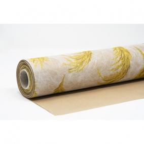 Csomagolópapír vízálló pampa mintás papír 750mm x 25m bézs, sárga