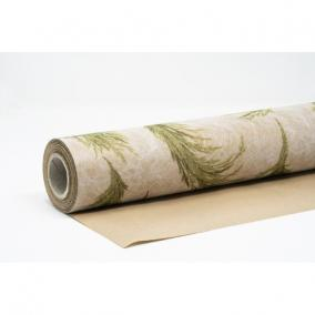 Csomagolópapír vízálló pampa mintás papír 750mm x 25m bézs, zöld