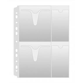 CD/DVD genotherm, lefűzhető, A4, 160 mikron, víztiszta, DONAU [25 db]