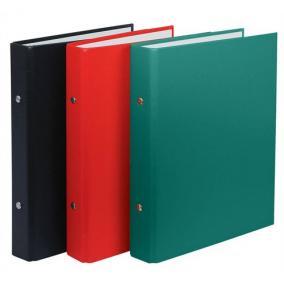 Gyűrűs könyv, 2 gyűrű, 30 mm, A5, PP/karton, DONAU, fekete