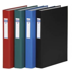 Gyűrűs könyv, 4 gyűrű, 40 mm, A4, PP/karton, DONAU, fekete