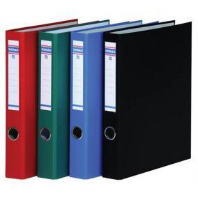Gyűrűs könyv, 2 gyűrű, D alakú, 45 mm, A4, PP/karton, DONAU, zöld
