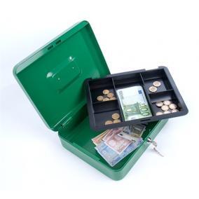 Pénzkazetta, 15,2x11,5x8 cm, DONAU, zöld