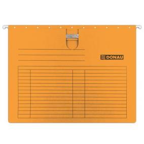 Függőmappa, gyorsfűzős, karton, A4, DONAU, narancs [25 db]