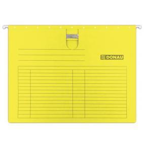 Függőmappa, gyorsfűzős, karton, A4, DONAU, sárga [25 db]