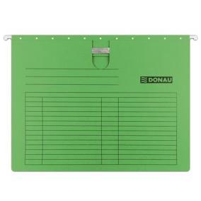 Függőmappa, gyorsfűzős, karton, A4, DONAU, zöld [25 db]