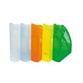 Iratpapucs, műanyag, 70 mm, DONAU, áttetsző narancs
