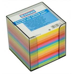 Kockatömb, 89x89x85 mm, adagolóval, DONAU, színes  [700 lap]
