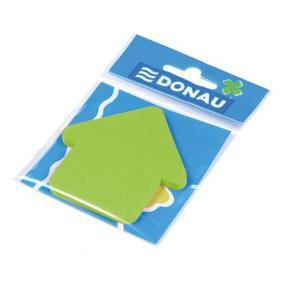 Öntapadó jegyzettömb, nyíl alakú, 50 lap, DONAU, zöld [50 lap]