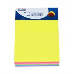 Öntapadó jegyzettömb, 101x76 mm, 7x40 lap, DONAU, vegyes szín [280 lap]