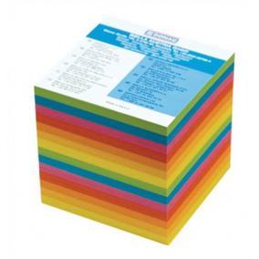 Kockatömb, 90x90x85 mm, DONAU, színes [800 lap]