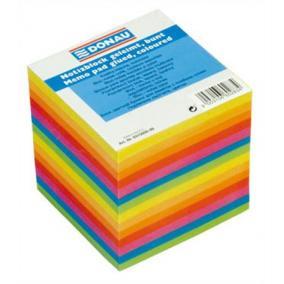 Kockatömb, 90x90x85 mm, ragasztott, DONAU, színes [800 lap]