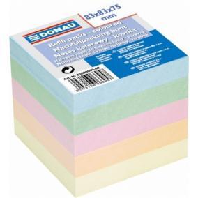 Kockatömb, 83x83x75 mm, DONAU, színes  [600 lap]