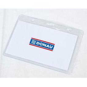 Azonosítókártya tartó, 105x65 mm, hajlékony, vízszintes, DONAU [50 db]