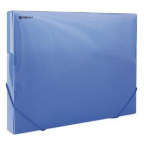 Gumis mappa, 30 mm, PP, merevített, A4, DONAU, áttetsző kék