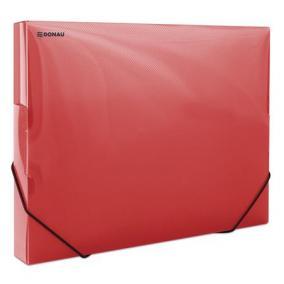 Gumis mappa, 30 mm, PP, merevített, A4, DONAU, áttetsző piros