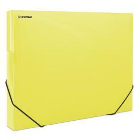 Gumis mappa, 30 mm, PP, merevített, A4, DONAU, áttetsző sárga