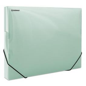 Gumis mappa, 30 mm, PP, merevített, A4, DONAU, áttetsző zöld