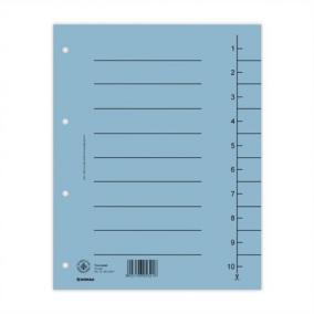 Regiszter, karton, A4, DONAU, kék [100 db]