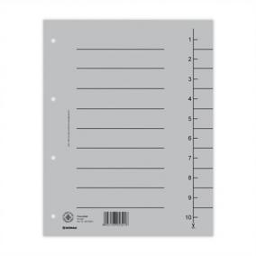 Regiszter, karton, A4, DONAU, szürke [100 db]